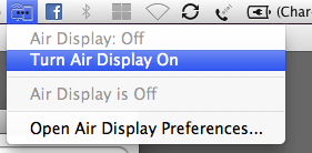 Air Display Menu