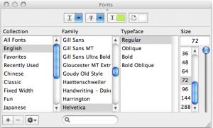 Font Window