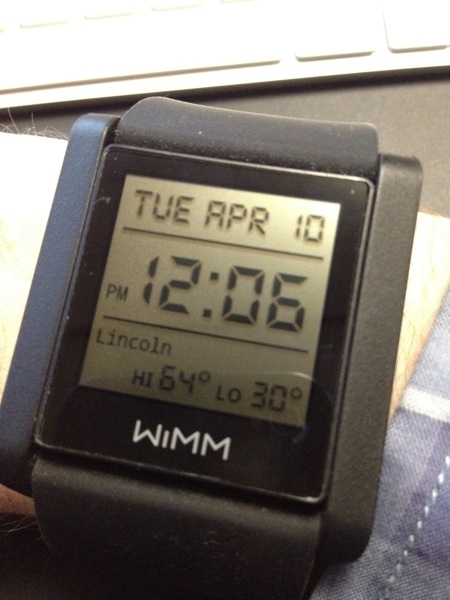 Wimm one watchface